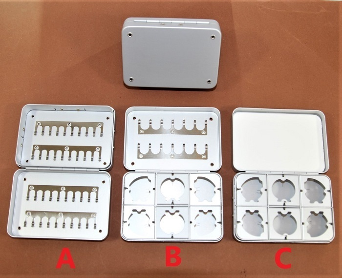 Hochwertiges Alu Fliegenbox 9x6x2,3 cm 3 verschiedene Modelle Kunstködertasche